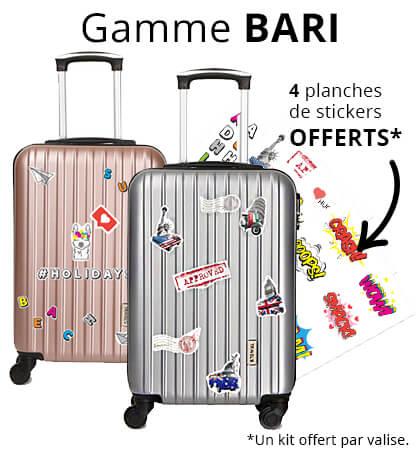 Bari Horizon - Valises cabine avec stickers