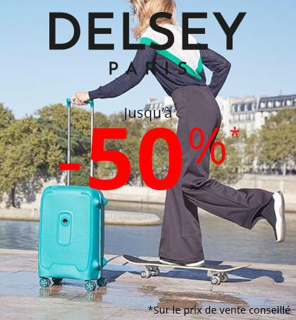 Delsey jusqu'à -50% chez Rayon d'or