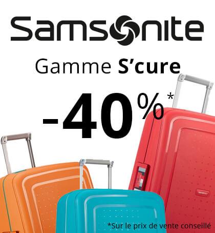 Samsonite gamme S'cure jusqu'à -40%